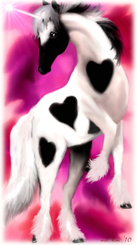 Heart of the Unicorn - wearing her heart on her skin