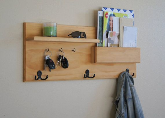 Organizer Coat Hooks Mail Storage And Key Hooks With Shelf Mail Organizer · Wall  Coat RackWall Mounted ...