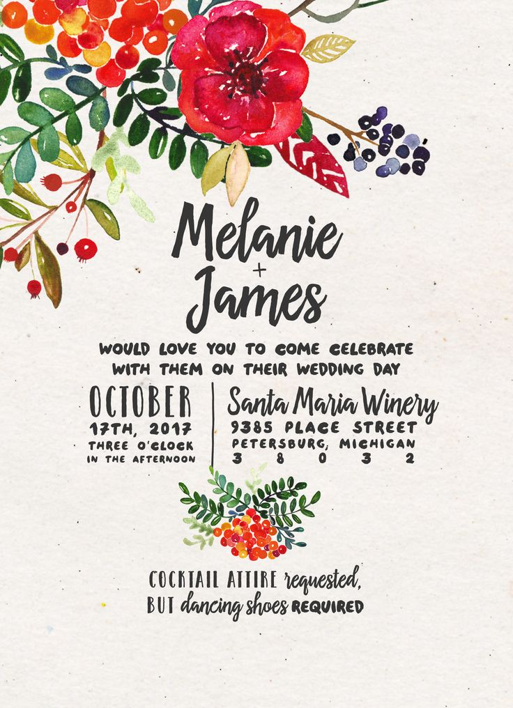Romantic Wedding Invites with adorable invitations template