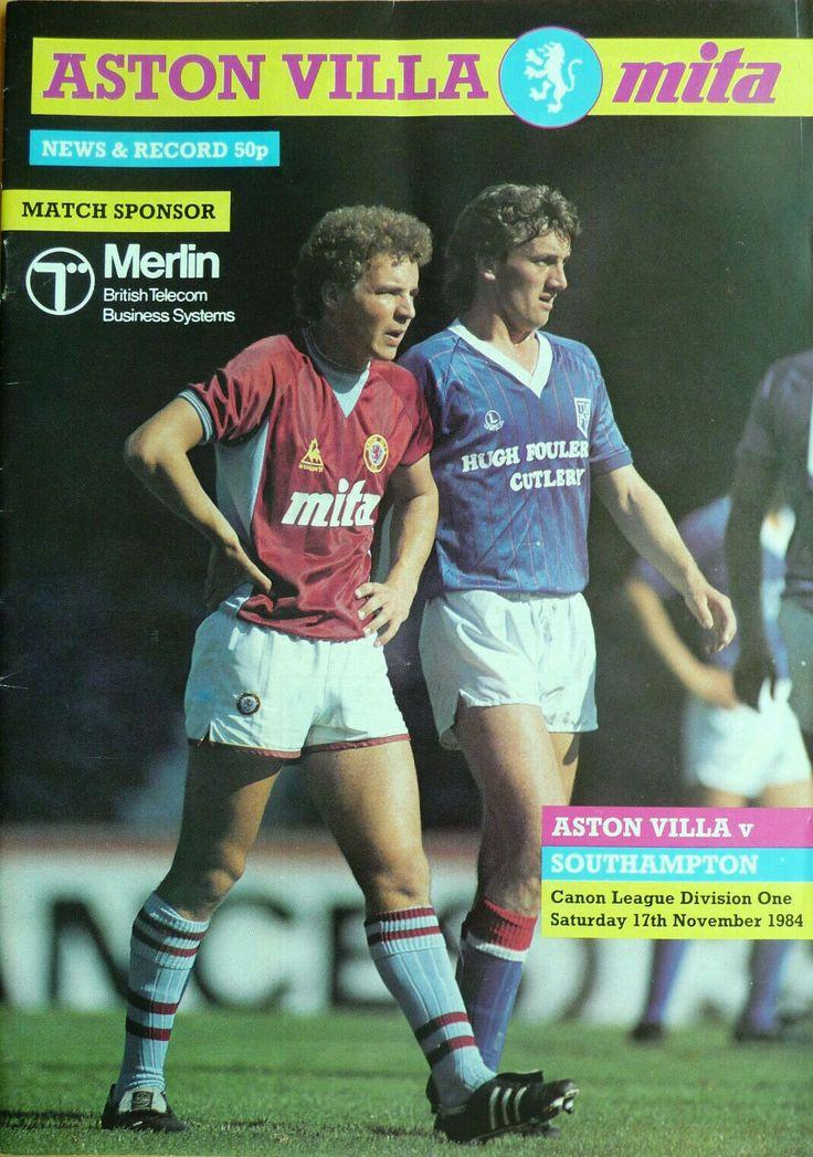Aston Villa 2 Southampton 2 in November 1984 at Villa Park. The programme cover #Div1