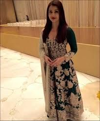 Image result for aishwarya rai green Lucknowi suit