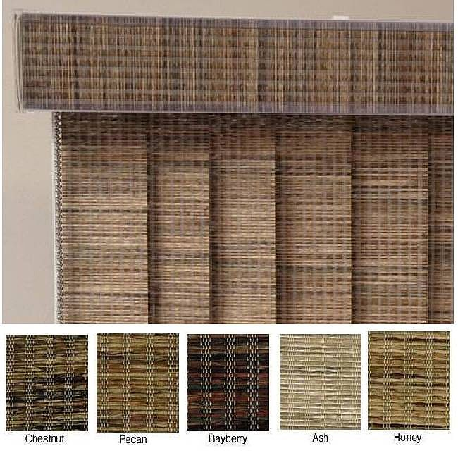 These custom vertical blinds are available in a number of popular colors and are made to length in three inch increments. Made from sturdy Edinborough fabric, these window treatments offer a stylish privacy option for every room in your home.