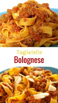 Bologna Sauce is a typical dish from Bologna, the capital of Emilia Romagna. Traditional bolognese sauce is different from the tomato and meat sauce we often get in the US. When serving this sauce, there should actually be very little liquid, the meat being the primary ingredient