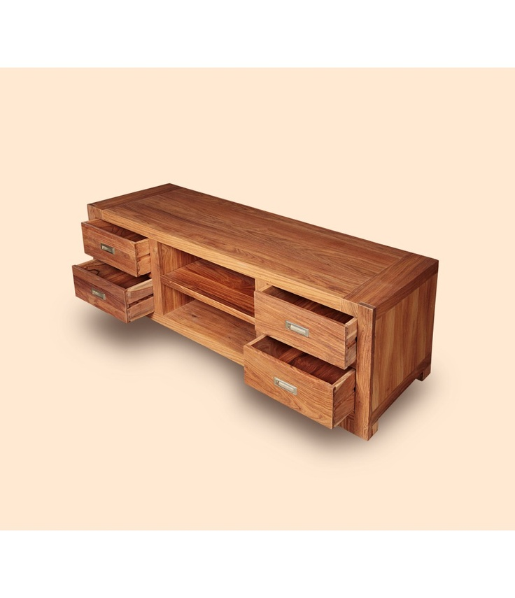 Rustic Wood TV Cabinet  at mynesthome.com