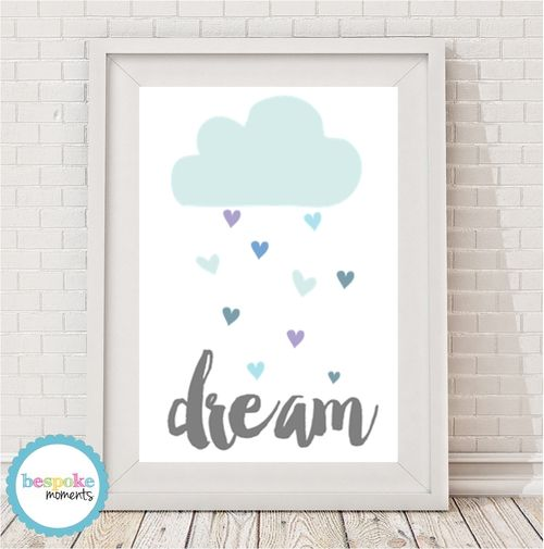 Dream Cloud Print by Bespoke Moments. Worldwide Shipping Available.