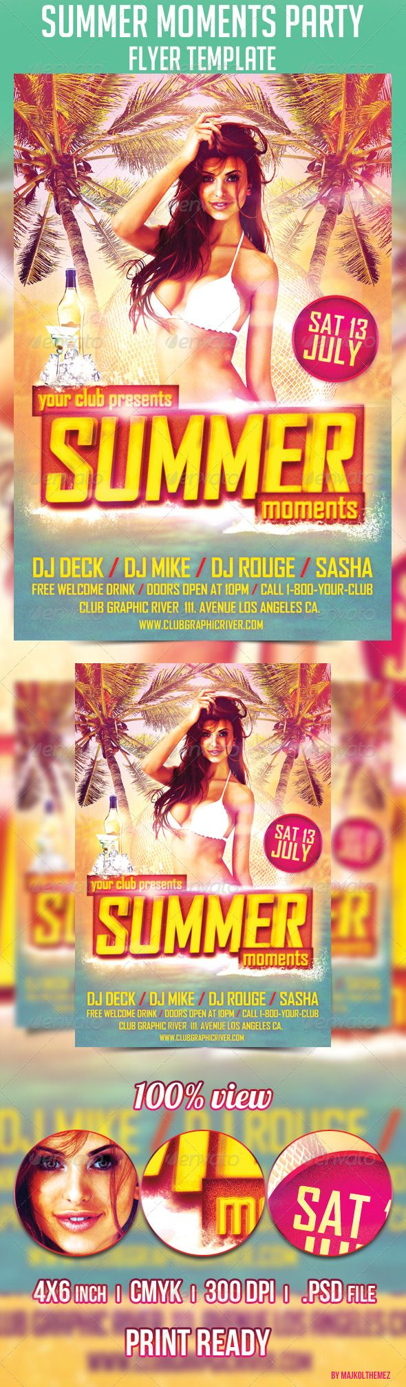 17 best images about flyer templates psd fresh summer moments party flyer template