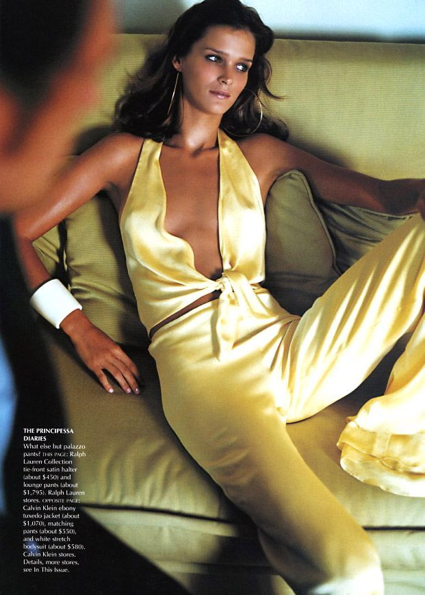 Carmen Kass   Photography by Mario Testino   For Vogue Magazine US   December 2001