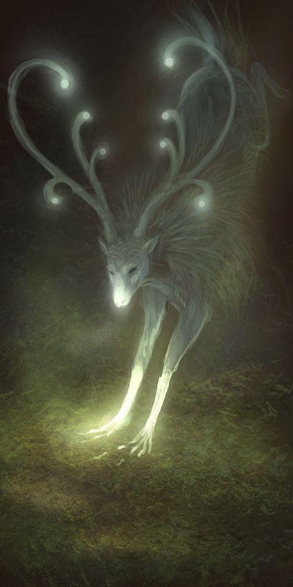 Een boom hert