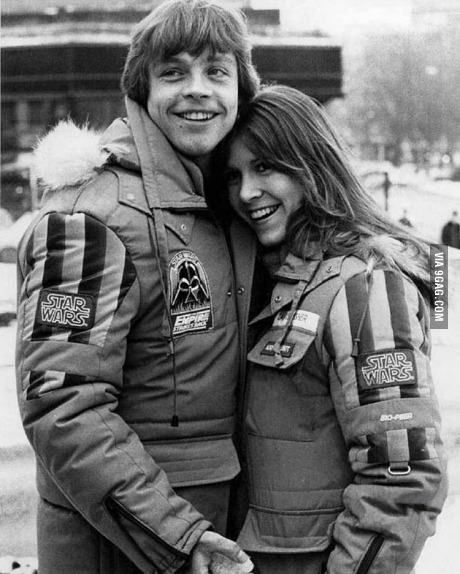 Mark Hamill and Carrie Fisher in the 80's.