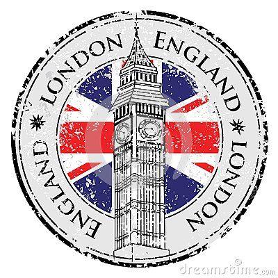 Sello de goma Londres Gran Bretaña del grunge