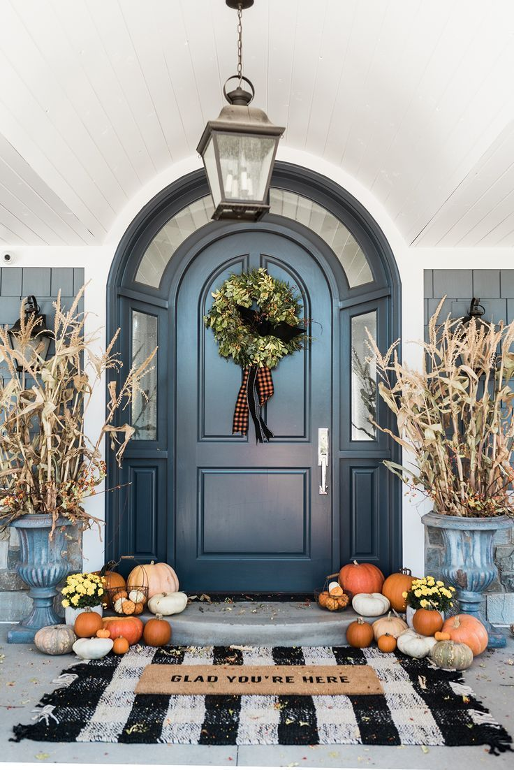 Really pleased with the way the painted doors look it was quick - Happy Fall Beautiful Entrance Way Front Doors