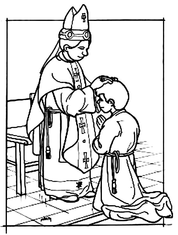 sacraments of the catholic church coloring pages - photo #24