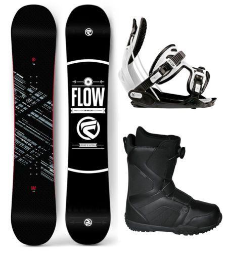 2018 FLOW Gap 162 WIDE Mens SnowboardFlow Alpha BindingsFlow BOA LTD Boots NEW