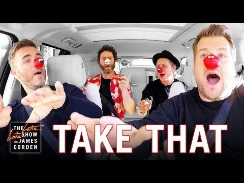 Take That Carpool Karaoke with James Corden for Comic Relief UK Red Nose Day | YouTube