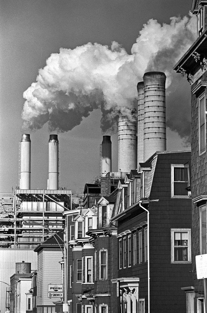 South Boston power plant and homes - Digital Commonwealth