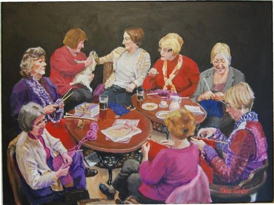 """The Knitting Group"" by John Hunter"