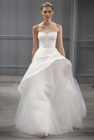 Monique Lhuillier has created a bridal collection that offers something beautiful for every kind of bride. Highlights were Monique Lhuillier's contemporary