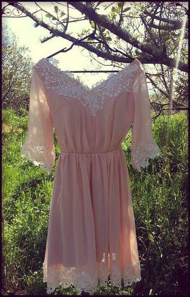 Carmen, long sleeve bridesmaid dress   Vintage Bleu