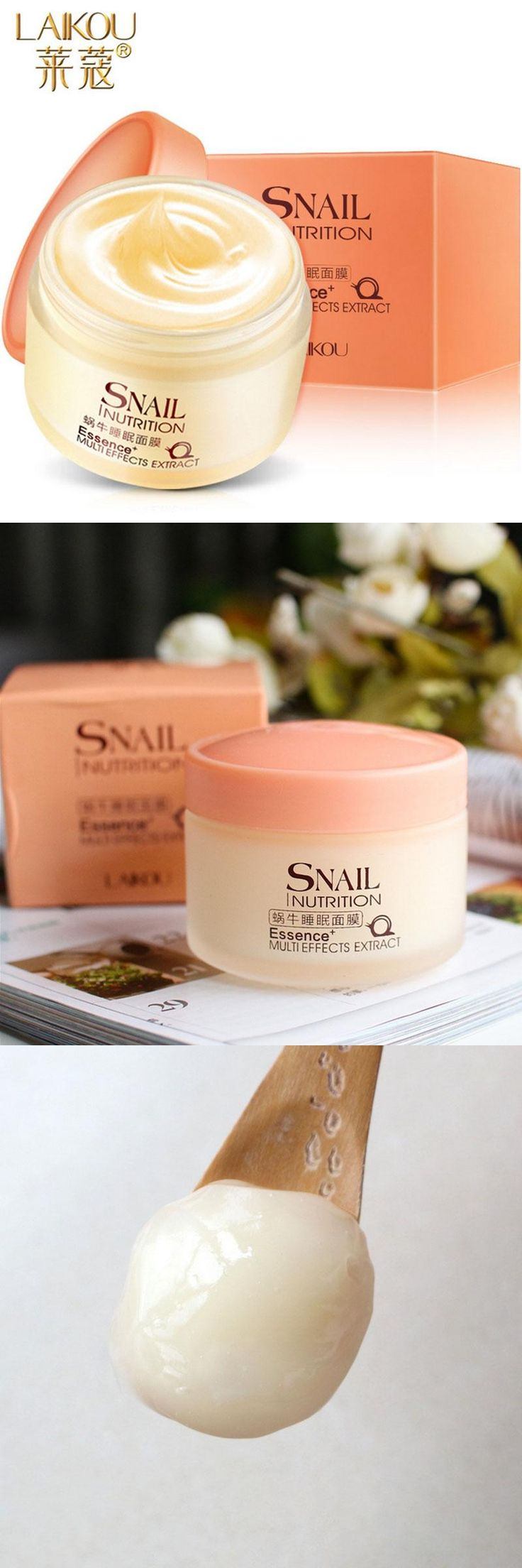 [Visit to Buy] Snail Whitening Firm Facial Mask Cream Face Care Fade Dark Spots Treatment Skin Care Face MASK Anti Wrinkle Aging Moisturizing #Advertisement