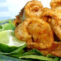 Grilled Salt & Pepper Calamari (Squid) - easy and quick to cook up on your grill / BBQ!