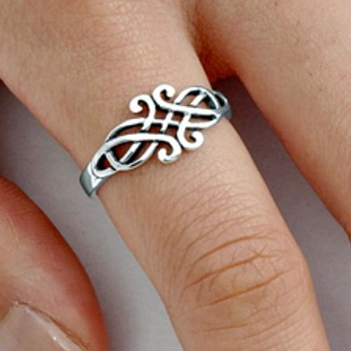 .925 Sterling Silver Ring size 5 Celtic Triad Triquetra Ladies Womens New pp33 #Unbranded #Band