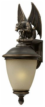Triarch 75252-14 Gargoyle Oil Rubbed Bronze Outdoor Wall Sconce eclectic outdoor lighting