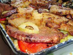 Elkészítési idő: 120 perc Tepsis tarja Hozzávalók: 4-6 szelet sertéstarja (lehet csontos is) 1,5 kg burgonya 20 - 25 dkg füs...