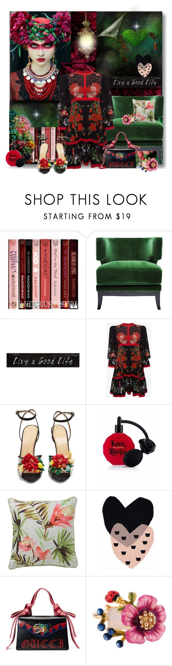 """""""Live A Good Life......"""" by nz-carla ❤ liked on Polyvore featuring KARE, Creative Co-op, Alexander McQueen, Charlotte Olympia, Victoria's Secret, Gucci and Les Néréides"""