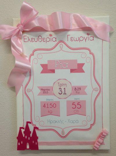 Διακοσμητικά παιδικού δωματίου - σπιτιού : Κάδρο - Πιστοποιητικό γέννησης