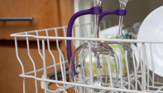 Tether Stemware Saver (holds wine glasses upward threw the whole wash cycle)Kitchens, Stemware Savers, Ideas, Gadgets, Products Design, Wine Glasses, Dishwashers, Tether Stemware, Design Website