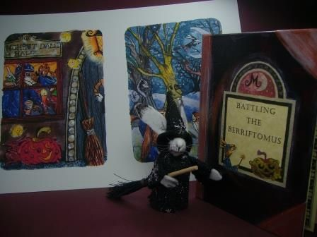 Ursula and 'Battling the Berriftomus' - early hardback copy.  More Matlock books at www.matlockthehare.com