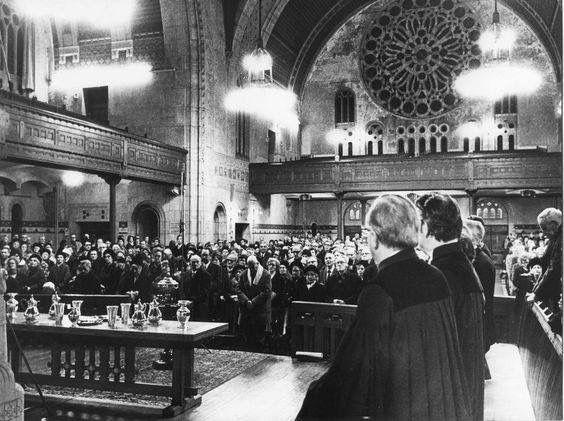 Laatste dienst Koninginnekerk, 31 december 1971.