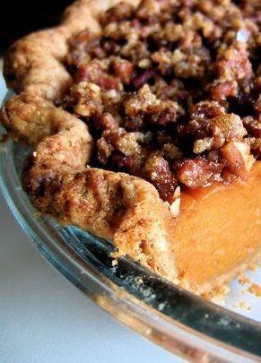 PAPPADEAUX'S SWEET POTATO PECAN PIE with BOURBON SAUCE ♥ ♥ ♥ [pappadeaux seafood kitchen] [food.com]