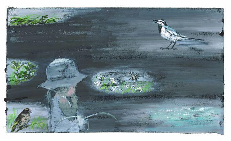 """""""In the Meadow"""" illustration Komako sakai"""