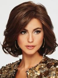 6″ Chin Size Wavy Auburn Layered Stunning Artificial Wigs
