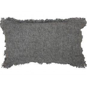 Kussen melange met rafels 30x50, nu € 16,95, ook in  45*45 cm verkrijgbaar