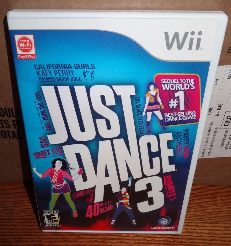 Wii Just Dance 3 (Nintendo Wii, 2011) Game w/Case & Instruction Booklet ~ SL #Nintendo
