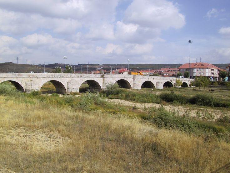 Puente Castro, puente sobre el río Torío, León, Camino de Santiago