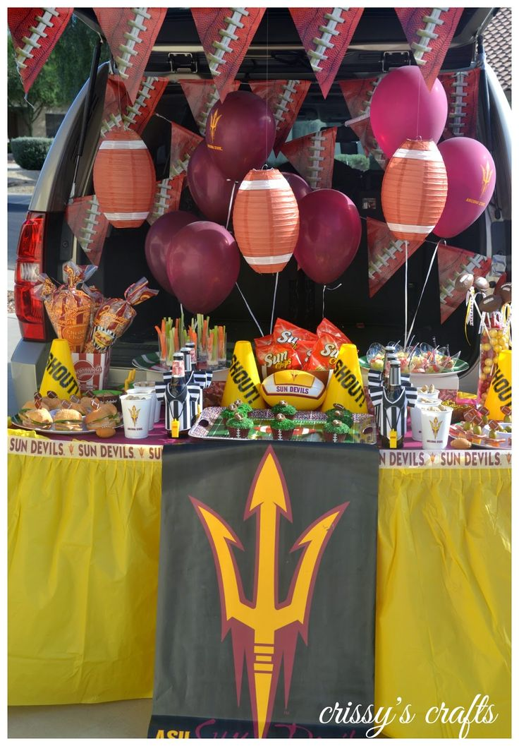 Crissy S Crafts Asu Tailgate Party Football College