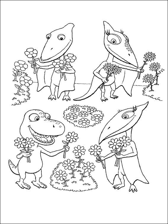 Pin Auf Dinosaurier Zug Ausmalbilder Zum Ausdrucken