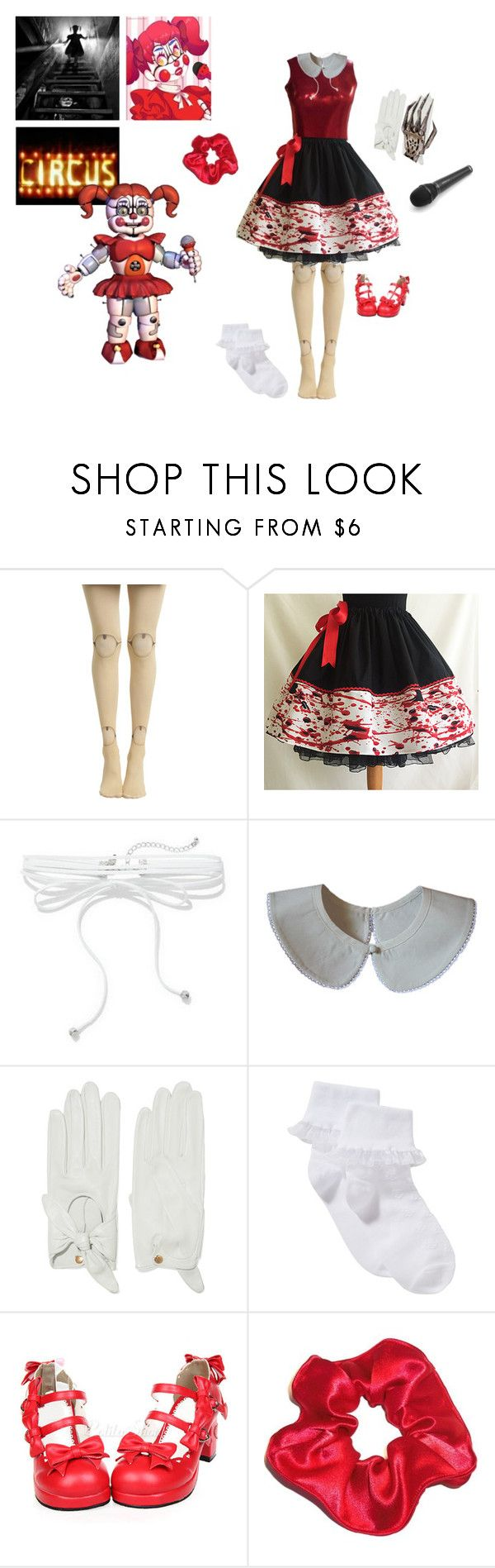 """""""Deep underground // Circus Baby FNAF"""" by countess-jessica-rose ❤ liked on Polyvore featuring L'Wren Scott, Hot Topic, New York & Company, Causse and John Lewis"""