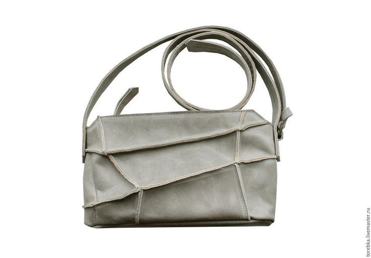 Купить Кожаная сумочка через плечо - комбинированный, весна лето, кожаная сумочка