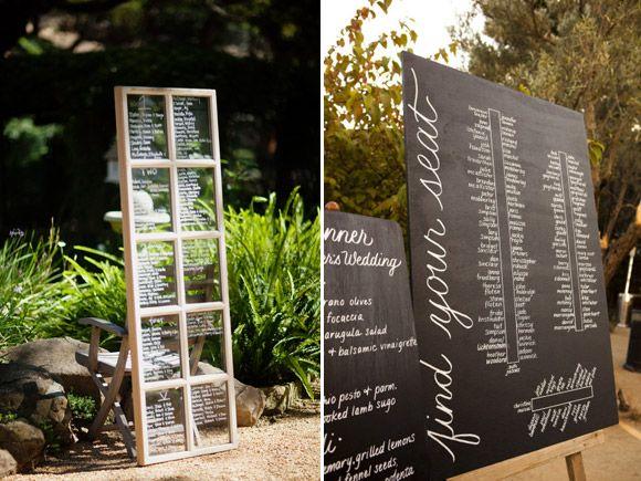 Ideas para presentar la lista de invitados de tu boda