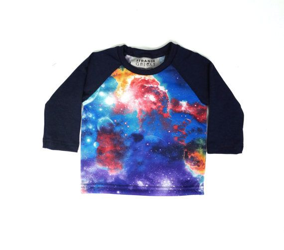 Baby clothes unisex baby shirt galaxy space print by StrangeGalaxy