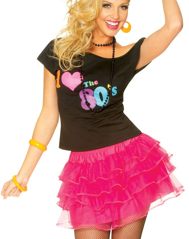pink puffy skirt for cute clown costume 80s party