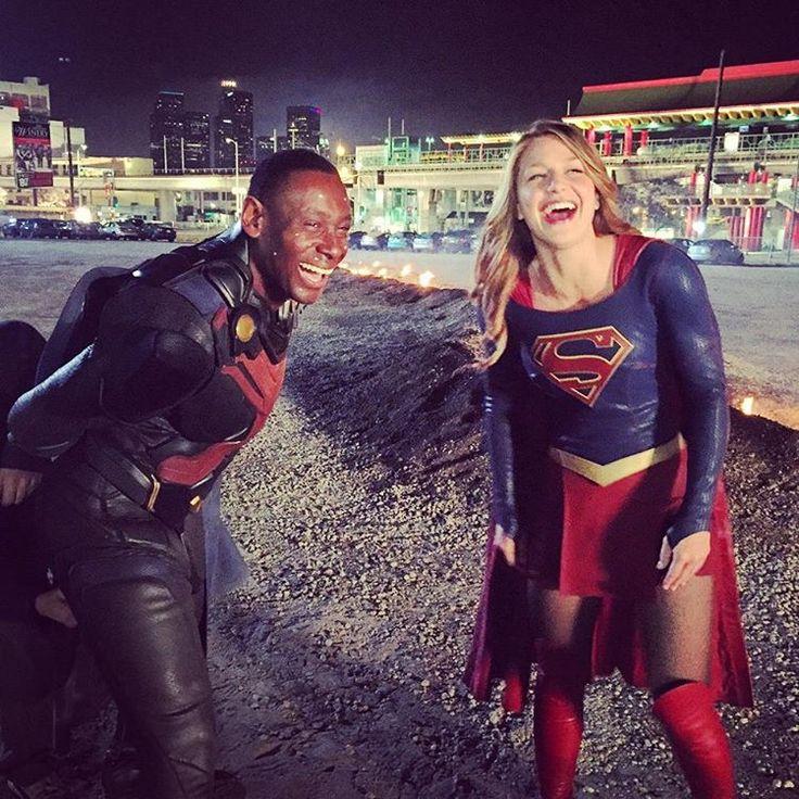 Martian Manhunter and Supergirl