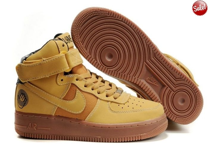 2014 Chaussure Nike Air Force One 25th High Homme Marron CCOW 31337