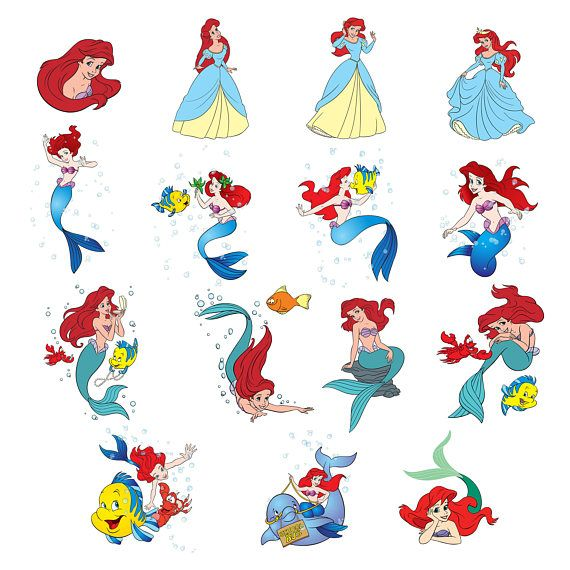 Ariel 2 Svg/Eps/Png/Jpg/ClipartsPrintable Silhouette and