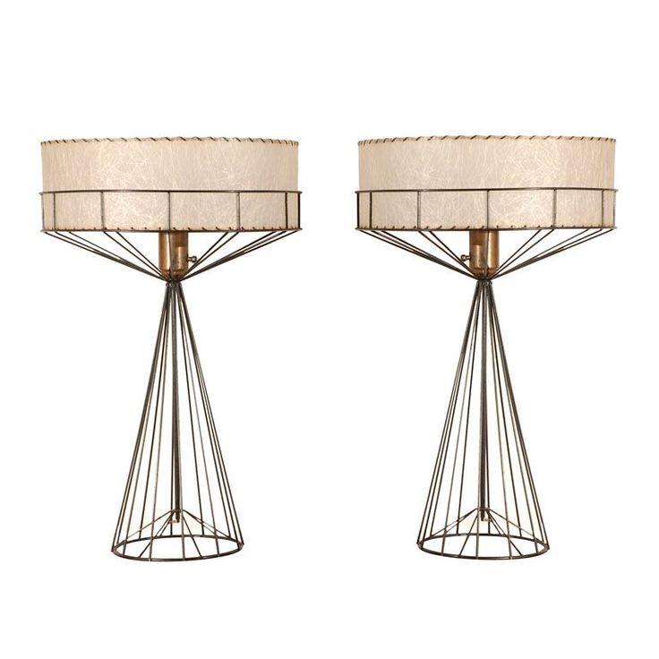Tony Paul Lamps: Lights, Retro Lamps, Amazing Lamps, Paul Tables, Table Lamps, Tony Paul, Wire Lamps, Tables Lamps, Furniture