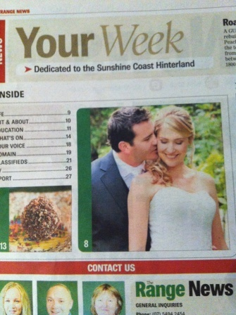 One of our real brides in The Range News.  Awpp Studio Photography
